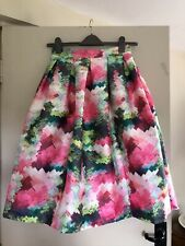 Ted Baker look-a-like skirt size Med 10 Patterned