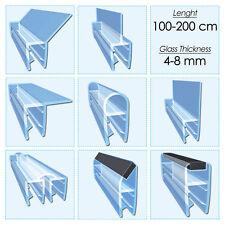 Shower Screen Door Seal Strip Plastic Rubber Bath Room Fits 4-8mm , 1m-2m Long