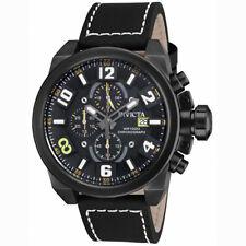 Invicta 18995 Gent's Chrono Black Dial Correa De Cuero Negro Reloj