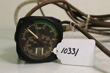 (10331) Aircraft Instruments Temperature Oil Fuel Pressure Gauge P/N 10057-A-15