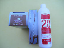 TWO 5N MATRIX SOCOLOR HAIRCOLOR PLUS ONE 16oz DEVELOPER NEW!
