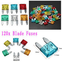 120pcs Mini Fusible Auto voitures lame Fuse 5A-30A Ampères Kits Assortiment