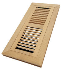 Homewell White Oak Wood Floor Register, Flush Mount Vent With Damper, 4x12 Inch