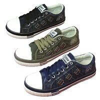 Mens Canvas Sneakers Denim Lace Up Casual Jeans Shoes Fashion Stone-Washed Sizes