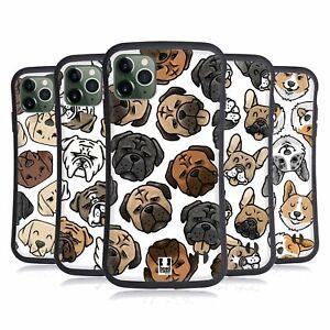 HEAD CASE DOG HEAD PATTERNS HYBRID CASE & WALLPAPER FOR APPLE iPHONES PHONES