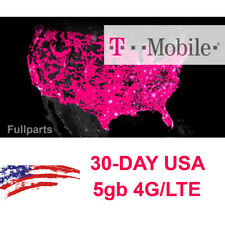 USA T-mobile SIM CARD 30-day 4G LTE 5gb data PREPAID Sim iPhone iPad Android NEW