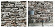 Arthouse Moroccan Stone Wall Brick Effect Wallpaper 623000