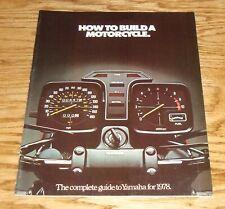 Original 1978 Yamaha Motorcycle Full Line Sales Brochure XS Eleven SR500 RD400