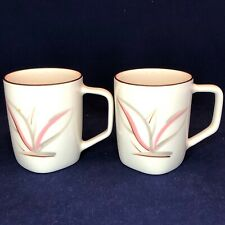 For BORDERDOGGE: Winfield Dragon Flower Handled Mugs 2 Piece Set California USA