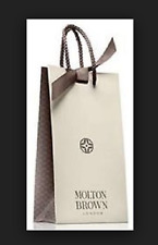 "Molton Brown Gift Bag x 2 -  11"" x 6"" x 3"" with Grey ribbon Beautiful Brand new"