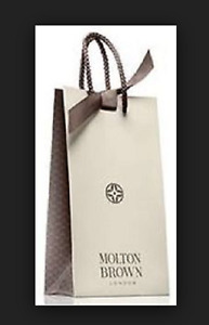 "Molton Brown Gift Bag x 2 -  11"" x 6"" x 3"" with Grey ribbon Beautiful Brand new"