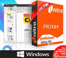 Nitro Pro 13 PDF Reader & Editor Lifetime version For 🔥 Windows 🔥