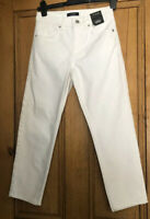 M&S Womens Mid Rise Cropped Straight Jeans U.K. Size 6 White BNWT