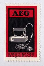 Original Modernist Poster stamp AEG Iron Peter BEHRENS c.1910 Industrial Design