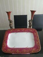 Riesige Pirkenhammer Servierplatte Goldr Dekor 45 x 32 cm
