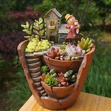 Plant Pot Creative Small Cute Flower Pot Holder Garden Decor Design Sweet House