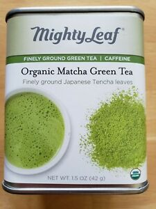Mighty Leaf Tin Organic Matcha Finely Ground Green Tea Caffeine
