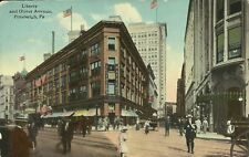 Liberty & Oliver Avenue Street View Pittsburgh Pennsylvania 1910 Postcard