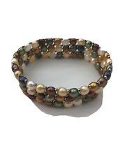 Cultured Pearls Bracelet - 16 mm Wide, Multicolour