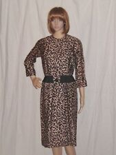 Vintage Wiggle Dress 50s 1950s Jack Stern Spotted Leopard Cheetah Pinup Vixen