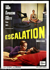 ESCALATION MANIFESTO CINEMA MORRICONE 1968 BODY PAINTING HIPPIES MOVIE POSTER 4F