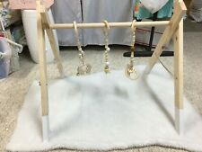 wooden baby play gym natural