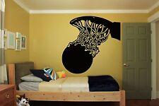 Wall Room Decor Art Vinyl Sticker Mural Decal Basketball Street Sport Fan FI398