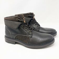 MEN'S ROBERT WAYNE JEF BROWN SUEDE AND LEATHER COMBAT STYLE BOOTS SZ 8 NEW