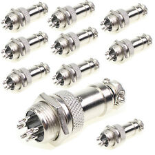 10 Pairs Aviation Plug 5 Pins Male Female Panel Metal Wire Connector 16mm GX16-4