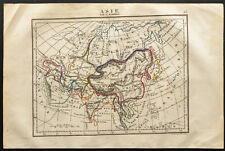 1843 - Asie - Carte ancienne - Perrot & Tardieu - Antique Map