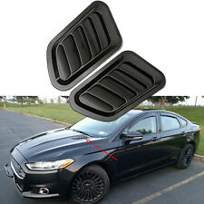 2x ABS Black Car Decorate Air Flow Intake Scoop Turbo Bonnet Vent Cover Hood