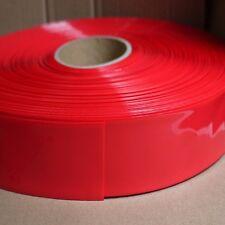 Battery Sleeve PVC Heat Shrinkable Tube Wrap Red Width 125MM Φ80MM x 1M