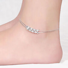 Silver Plated Beaded Ball Anklet (with extender)