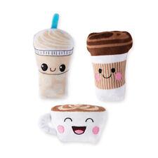 Fringe Studio Minis Coffee 3-Piece Plush Dog Toy Set