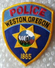 Patch Weston Oregon US Police Patch 120 X 95 mm New