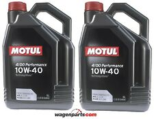 Aceite Motor Motul 4100 Performance 10W40, 10 litros (Volkswagen Mercedes)