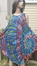 T201 Boho Hippie Gypsy Sundress Handmade Tie Dye Unique Colorfull S M L XL
