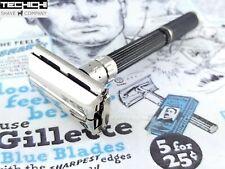 1977 X4 Gillette Black Handle Adjustable Vintage Double Edge Safety Razor