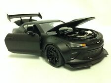 2016 Chevy Camaro SS Wide Body With GT Wing 1:24 Die Cast Jada Toy, Primer Black