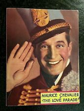 THE LOVE PARADE 1929 MOVIE HERALD - MAURICE CHEVALIER, JEANETTE MacDONALD