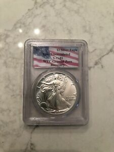 1987 WTC Ground Zero Recovery Silver Eagle PCGS Gem Uncirculated