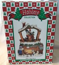 "Animated CHRISTMAS Figurine, Wind Up, Plays ""Jingle Bells"""