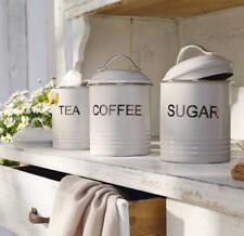 3er Aufbewahrungsdose Vorratsdose Kaffee Tee Zucker Dose Geschenk-Idee Landhaus