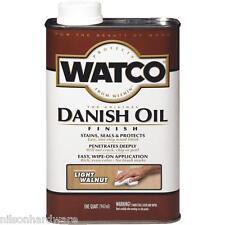 6 Qt Light Walnut Watco Interior Wood Furniture Cabinet Danish Oil Finish 65541