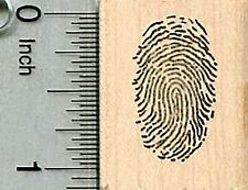 Fingerprint Rubber Stamp, Detective Series D34607 WM