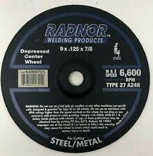 "RADNOR 9"" X .125"" X 7/8"" Aluminum Oxide Type 27 Depressed Center Cut Off Wheel"