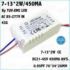 5PCS AC85-277V 20W By CE LED Driver 7-13Cx2W 450mA DC21-45V Constant Current 90%