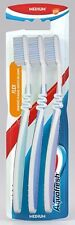 3x Aquafresh Flex Medium Adult Family Manual Oral Toothbrush Pack - FREE P&P