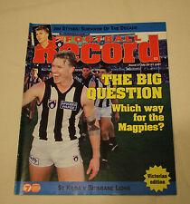 1997 AFL Round 17 Football Record St Kilda v Brisbane Lions Vic Edition