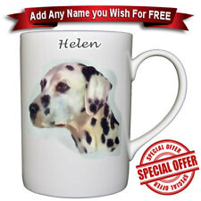 Dalmatian - Bone China Mug + Personalised with any name added for free
